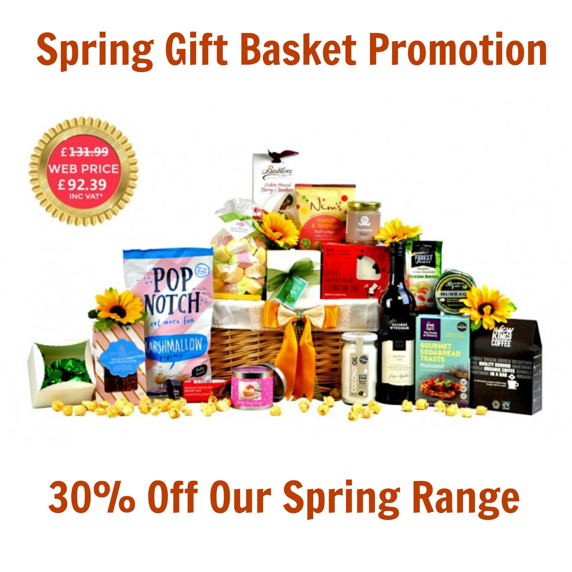 Spring Gift Basket: Special Offer 30% Off