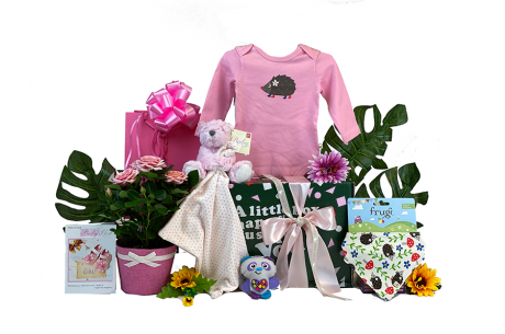 Baby Girl Gift Box With Flowers