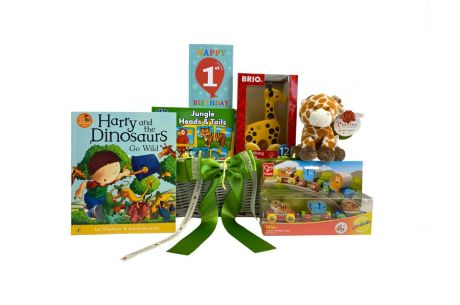 Jungle Party 1st Birthday Gift Basket