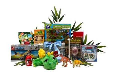 Jurassic Adventure Gift Basket for Children Age 5-7