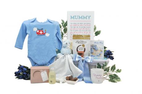Love Mummy and Baby Boy Gift Basket