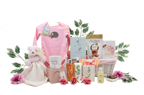 Pamper Mummy and Baby Girl Gift Basket