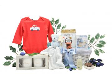 Mummy Daddy and Baby Boy Gift Basket