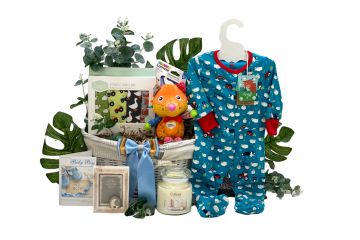 New Arrival Baby Gift Basket Boy