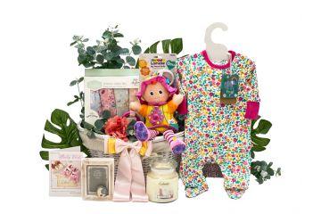 New Arrival Baby Gift Basket Girl