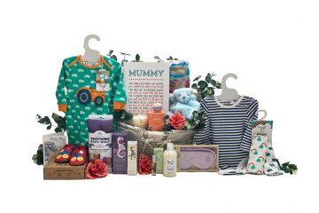 New Mum Gifts Luxury Beauty Basket Boy